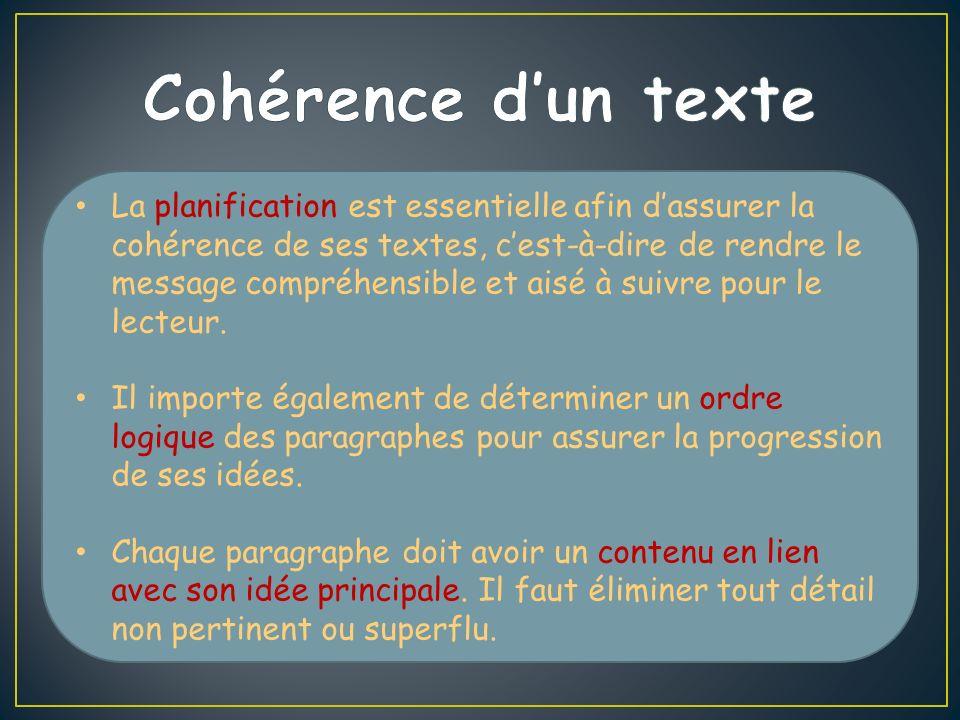 Cohérence d'un texte