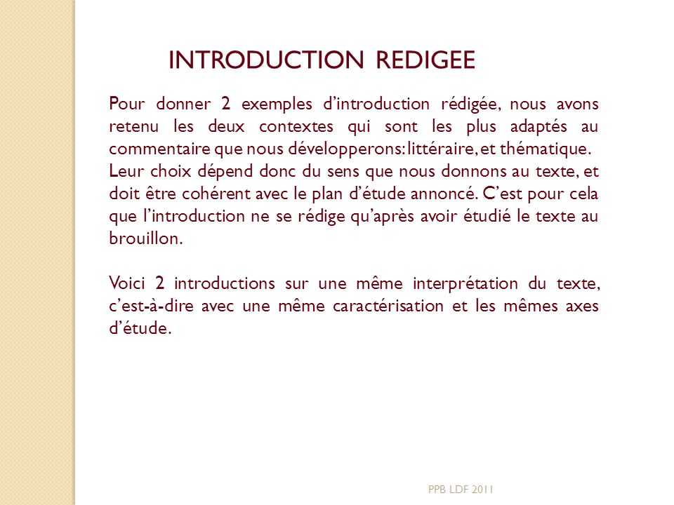 INTRODUCTION REDIGEE