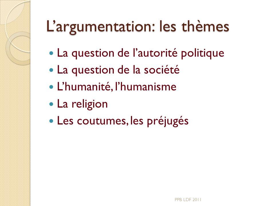 L'argumentation: les thèmes
