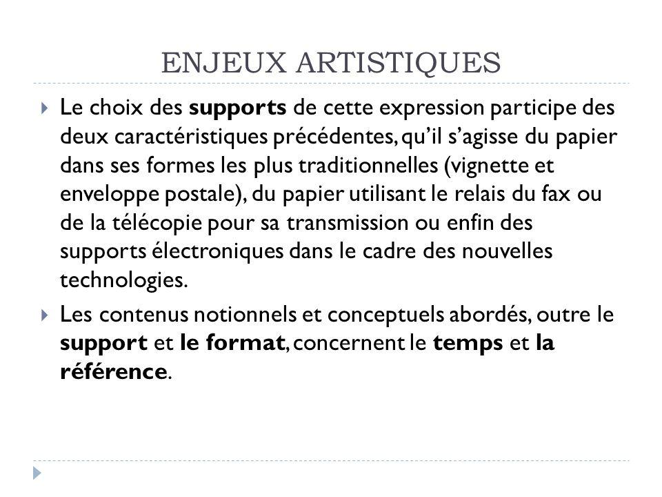 ENJEUX ARTISTIQUES