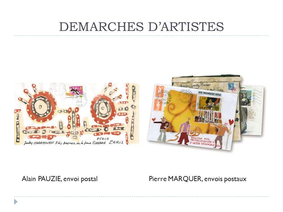 DEMARCHES D'ARTISTES Alain PAUZIE, envoi postal