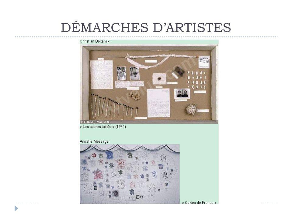 DÉMARCHES D'ARTISTES