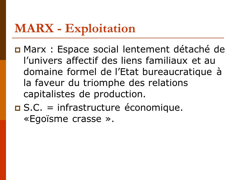 MARX - Exploitation