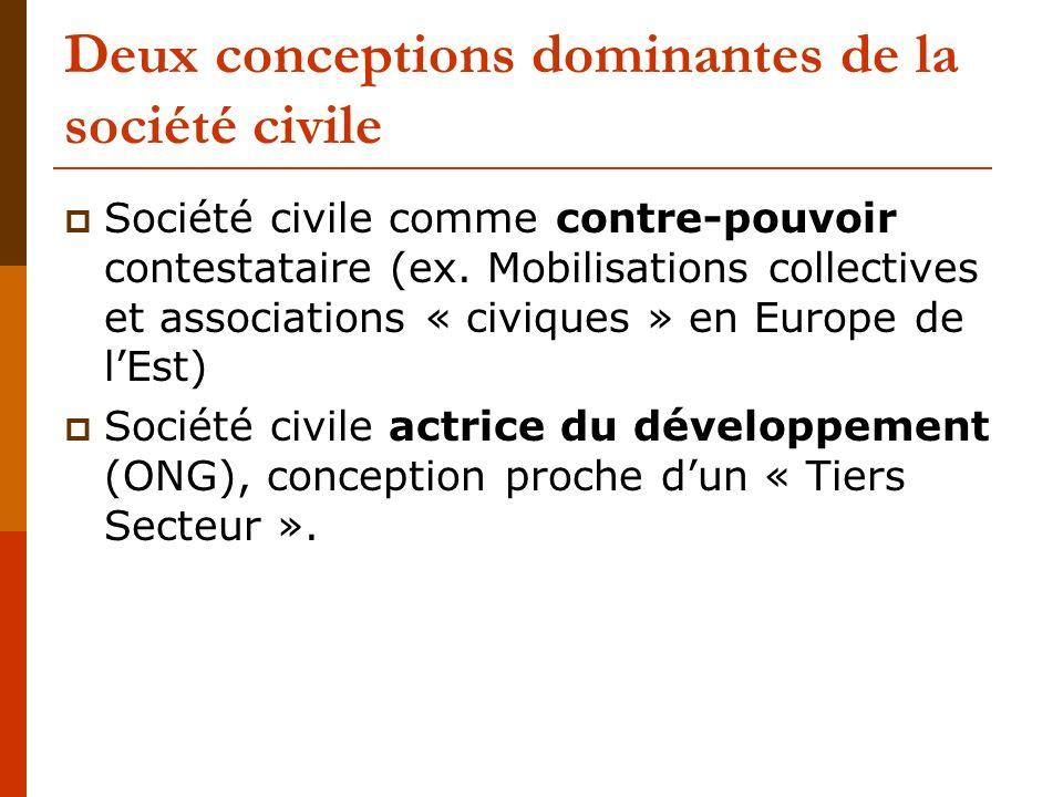 Deux conceptions dominantes de la société civile