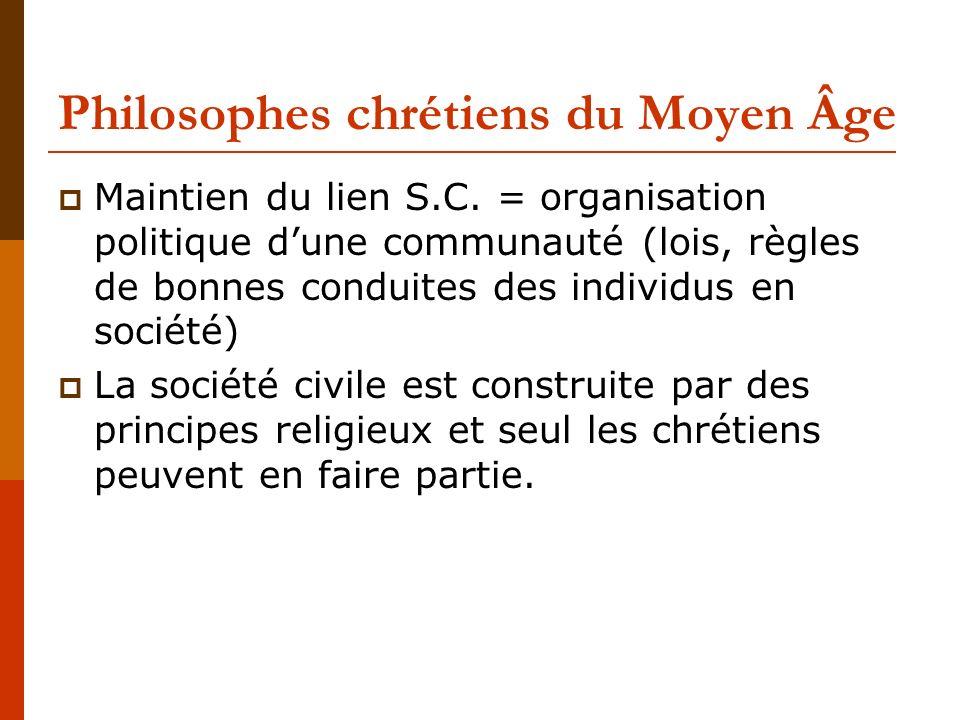 Philosophes chrétiens du Moyen Âge