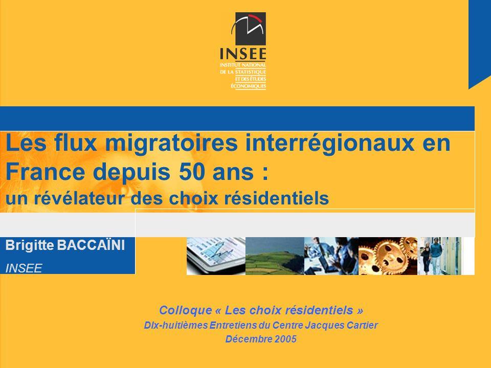 Les flux migratoires interrégionaux en France depuis 50 ans : un révélateur des choix résidentiels