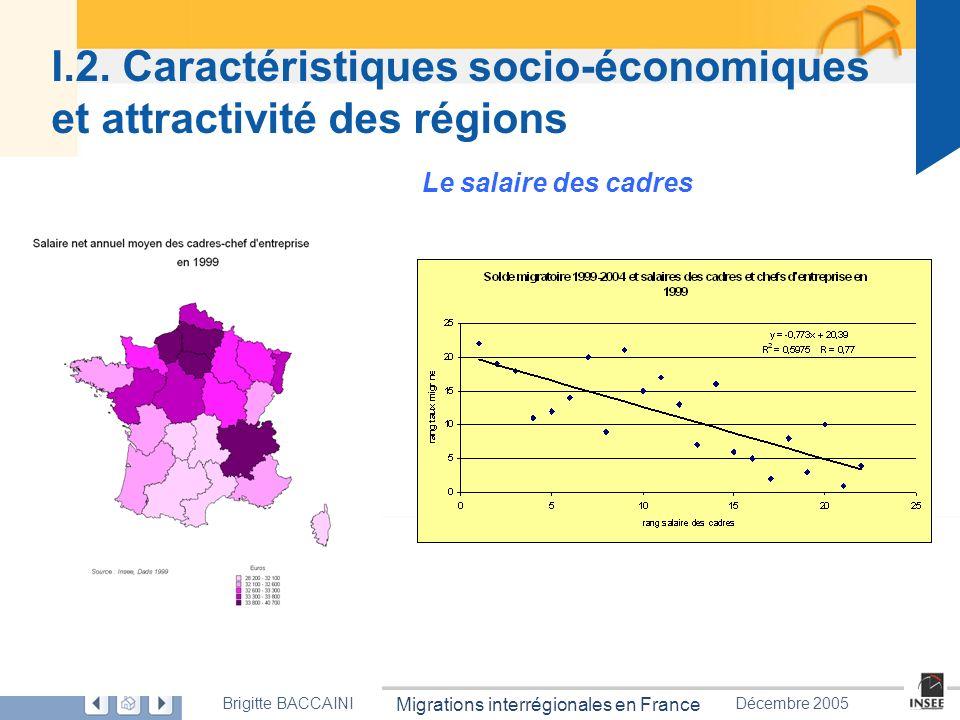 I.2. Caractéristiques socio-économiques et attractivité des régions