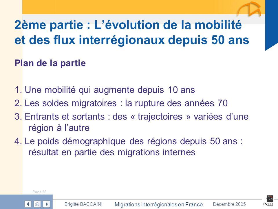 2ème partie : L'évolution de la mobilité et des flux interrégionaux depuis 50 ans