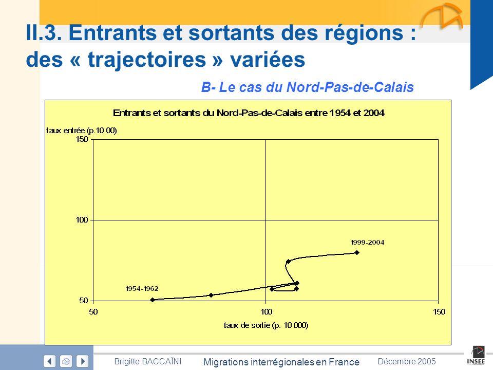 II.3. Entrants et sortants des régions : des « trajectoires » variées