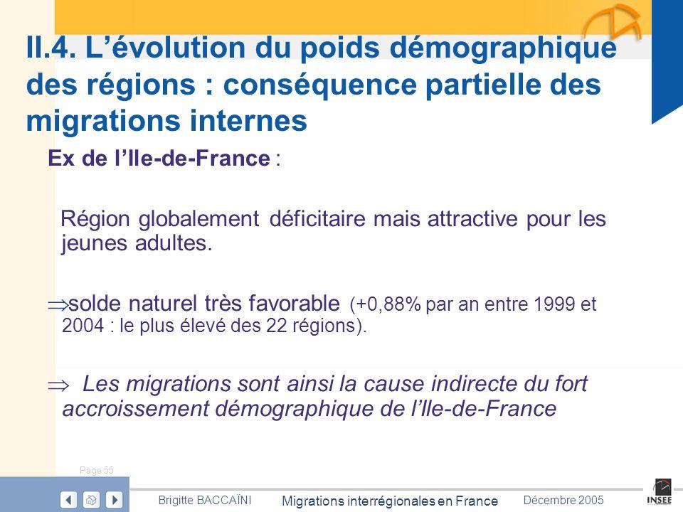 II.4. L'évolution du poids démographique des régions : conséquence partielle des migrations internes