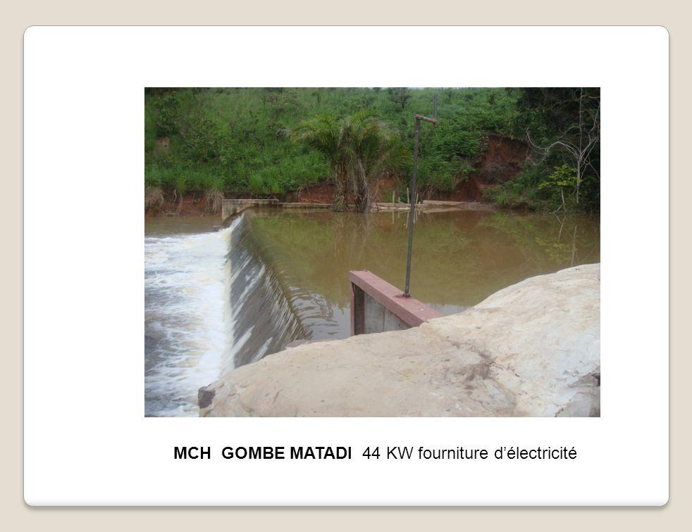 MCH GOMBE MATADI 44 KW fourniture d'électricité