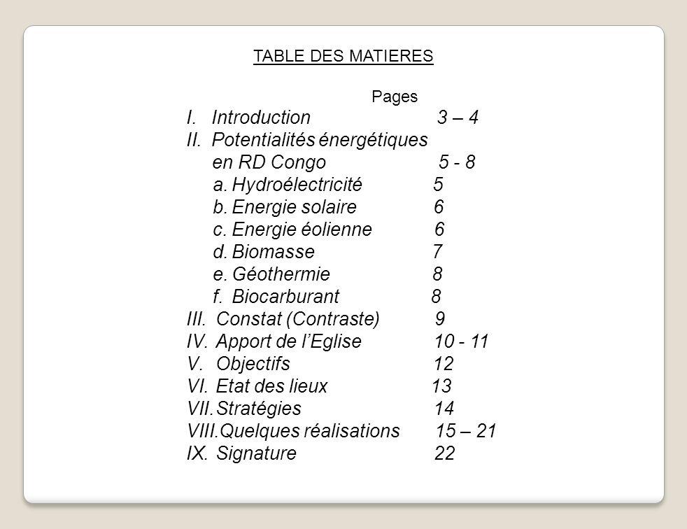 Potentialités énergétiques en RD Congo 5 - 8 Hydroélectricité 5