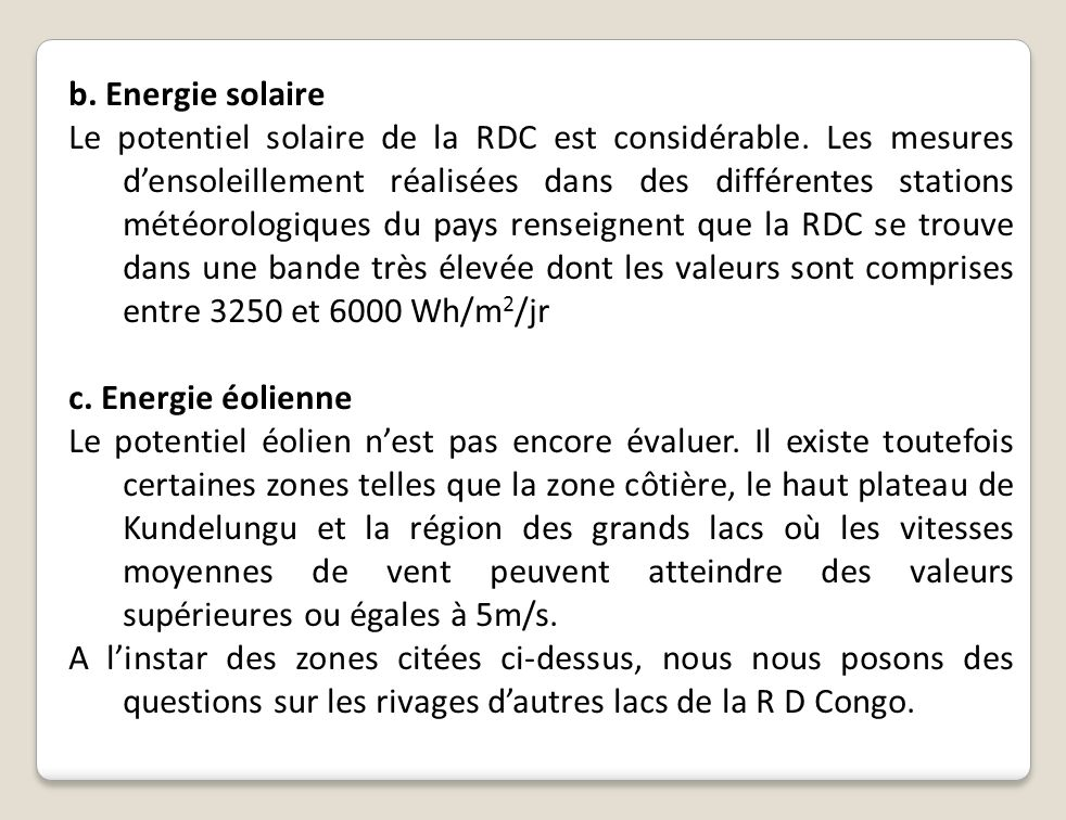 b. Energie solaire