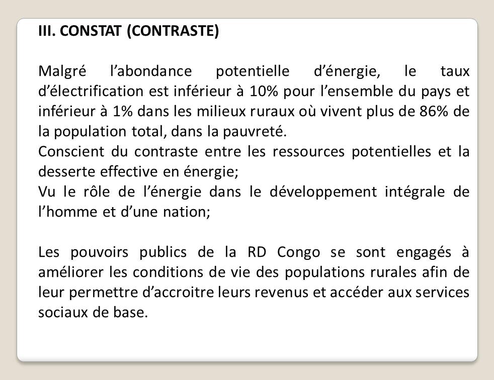 III. CONSTAT (CONTRASTE)