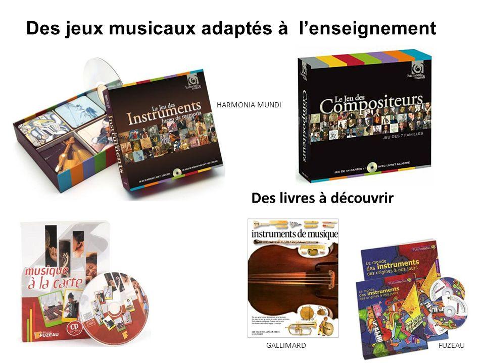Des jeux musicaux adaptés à l'enseignement