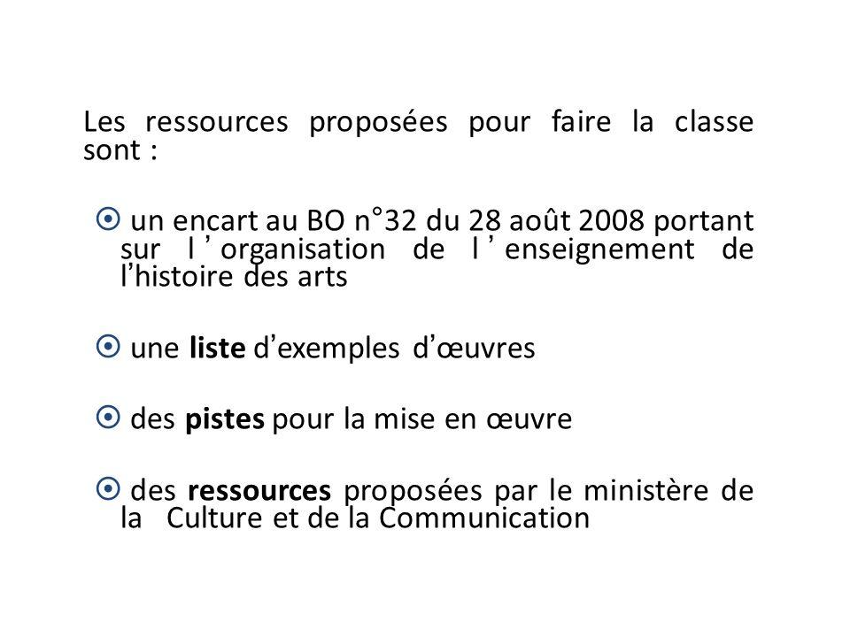 Les ressources proposées pour faire la classe sont :