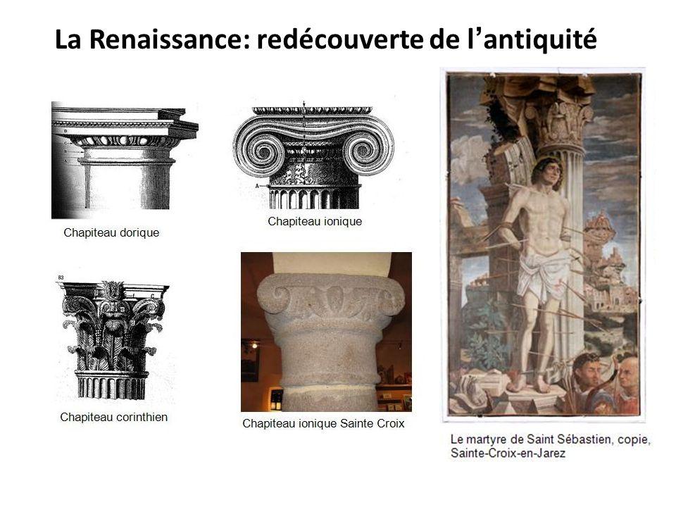 La Renaissance: redécouverte de l'antiquité