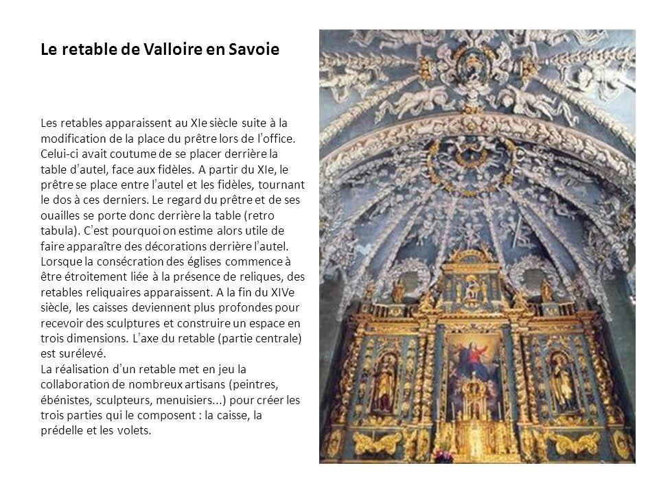 Le retable de Valloire en Savoie