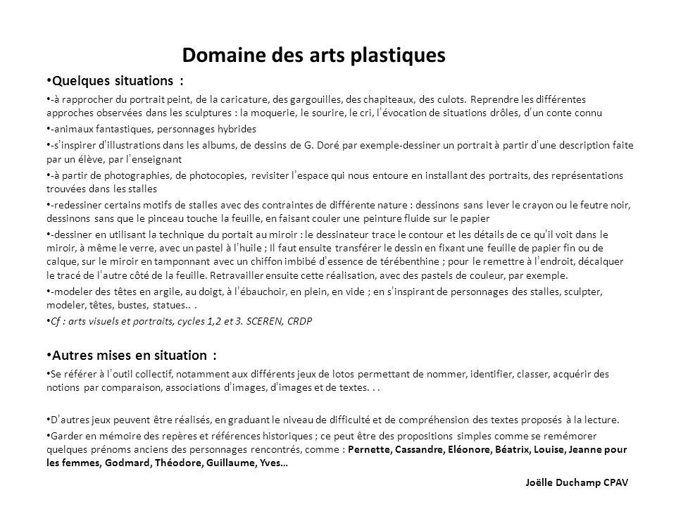 Domaine des arts plastiques