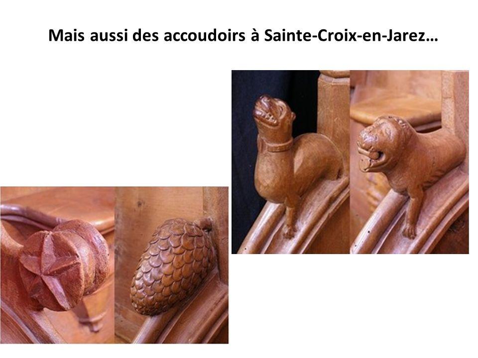 Mais aussi des accoudoirs à Sainte-Croix-en-Jarez…