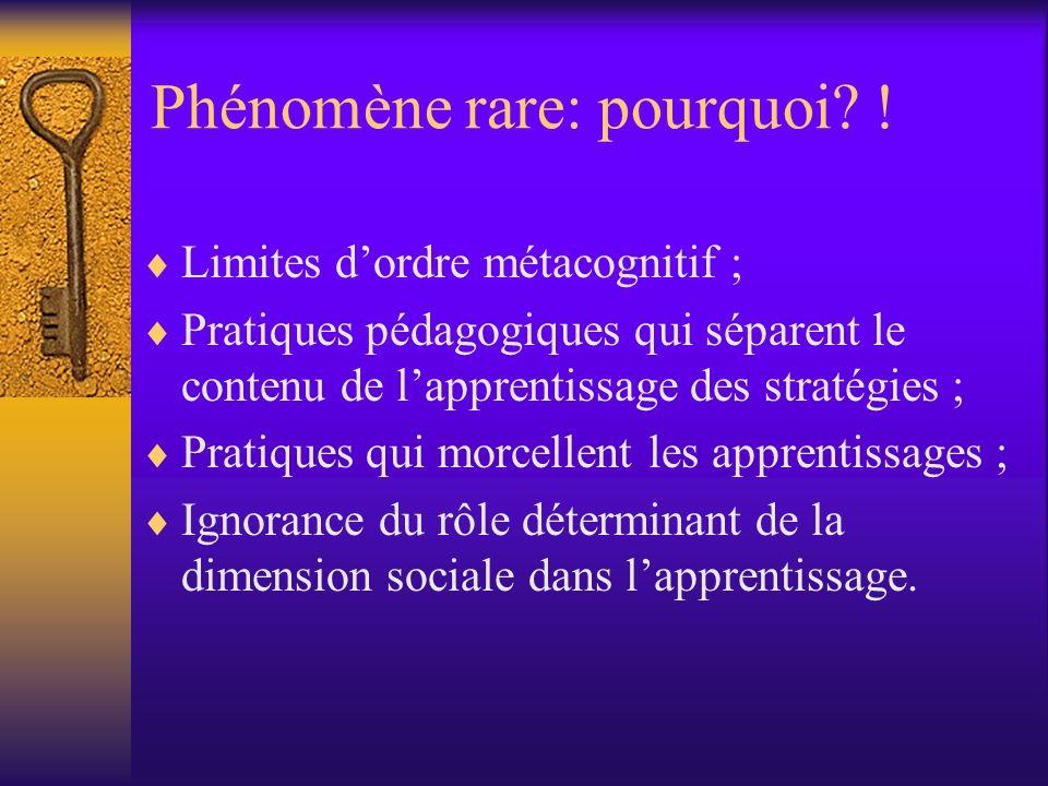 Phénomène rare: pourquoi !