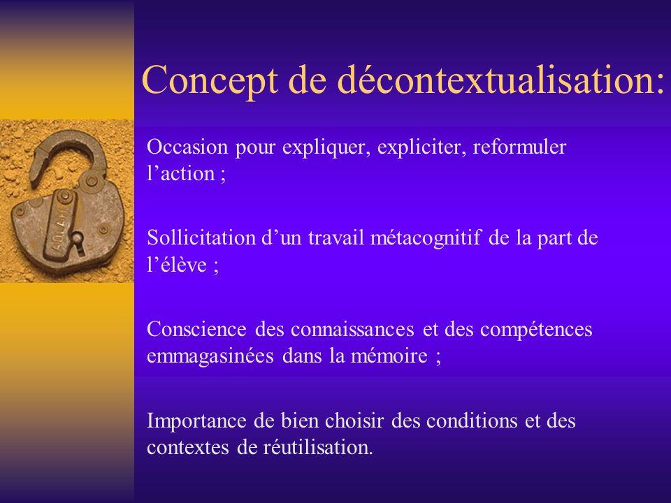 Concept de décontextualisation: