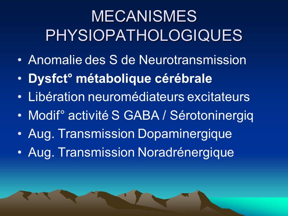 MECANISMES PHYSIOPATHOLOGIQUES