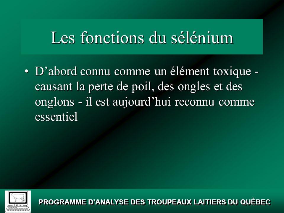 Les fonctions du sélénium