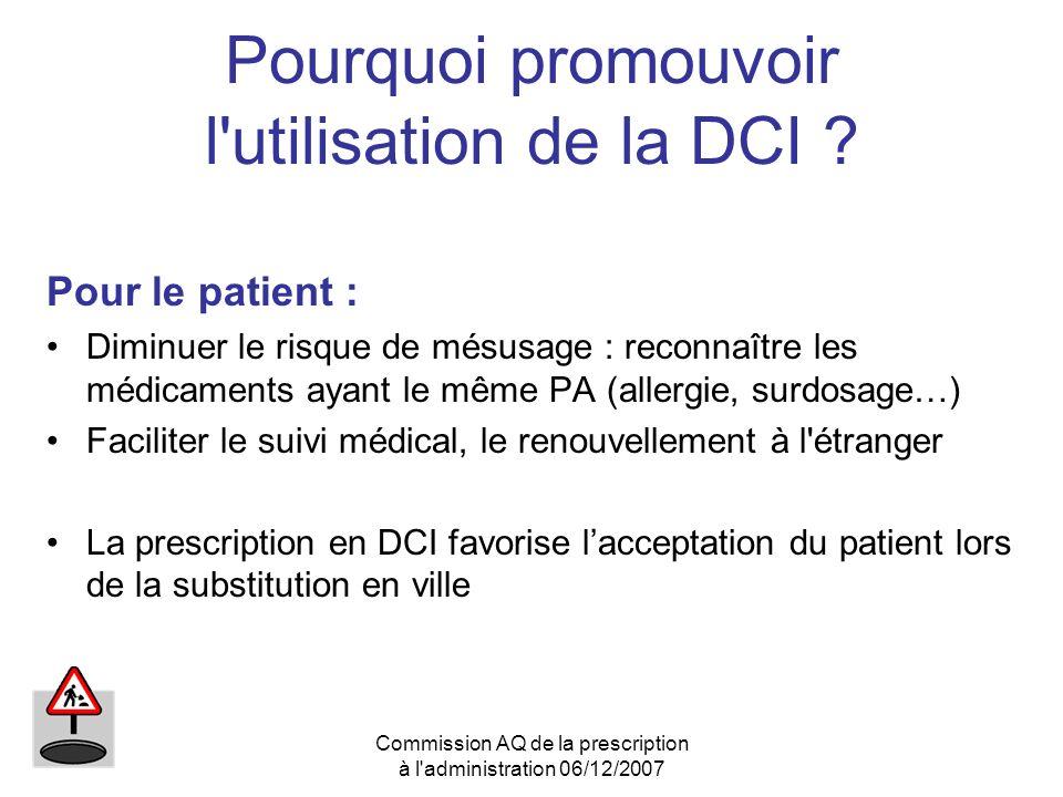 Pourquoi promouvoir l utilisation de la DCI