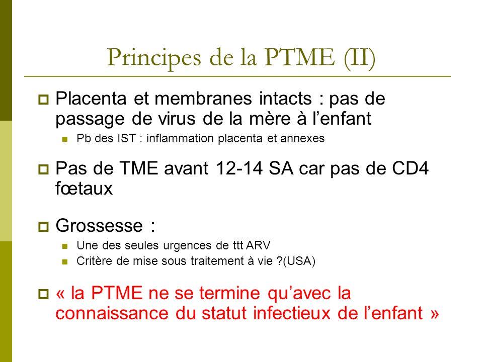 Principes de la PTME (II)