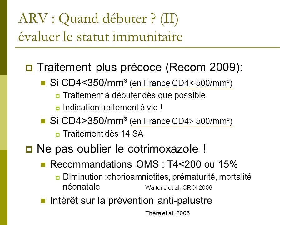 ARV : Quand débuter (II) évaluer le statut immunitaire