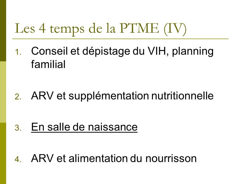 Les 4 temps de la PTME (IV)