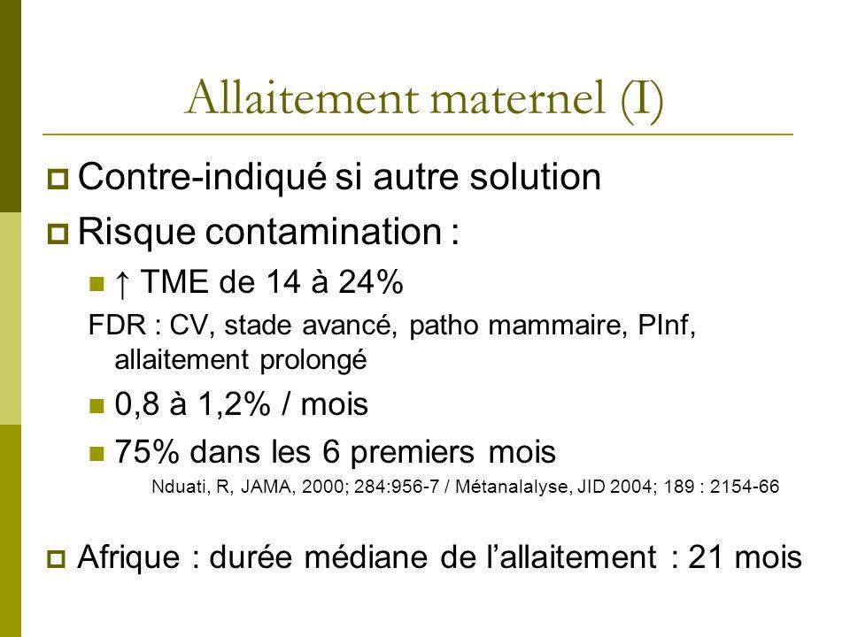 Allaitement maternel (I)