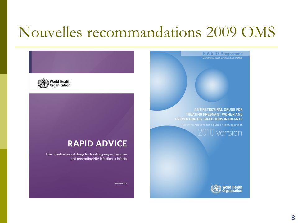 Nouvelles recommandations 2009 OMS