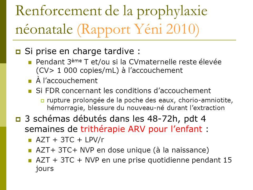 Renforcement de la prophylaxie néonatale (Rapport Yéni 2010)