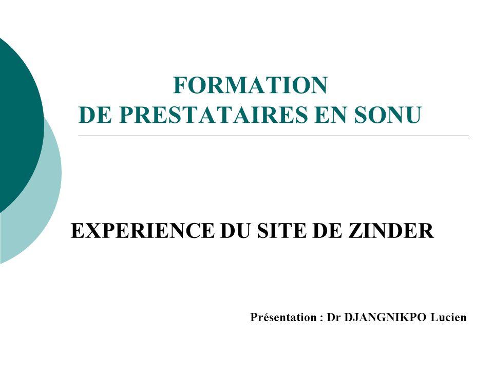 FORMATION DE PRESTATAIRES EN SONU