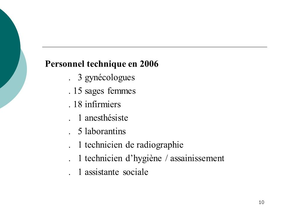 Personnel technique en 2006