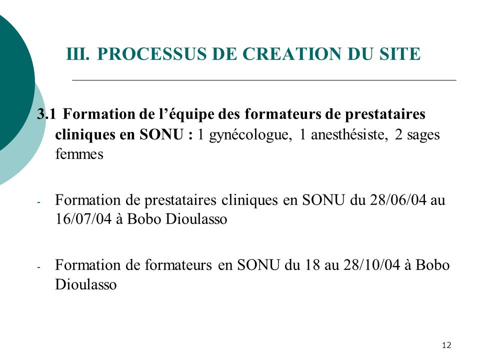 III. PROCESSUS DE CREATION DU SITE