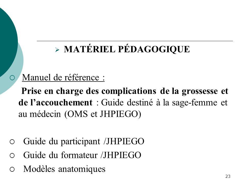 Manuel de référence : MATÉRIEL PÉDAGOGIQUE
