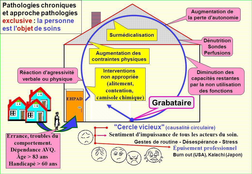 Pathologies chroniques et approche pathologies exclusive : la personne est l objet de soins