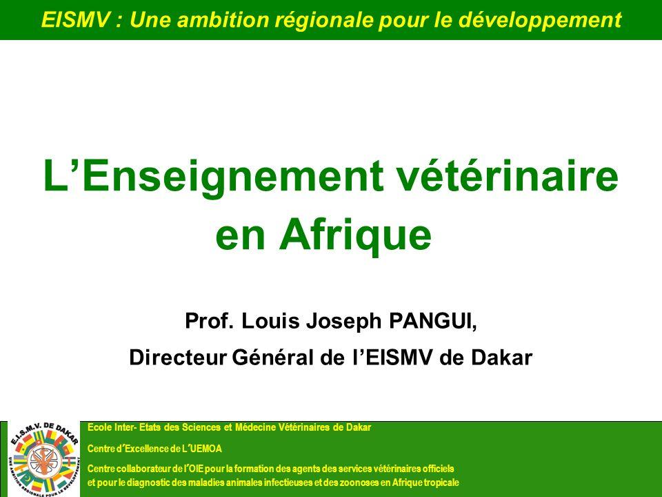 L'Enseignement vétérinaire en Afrique