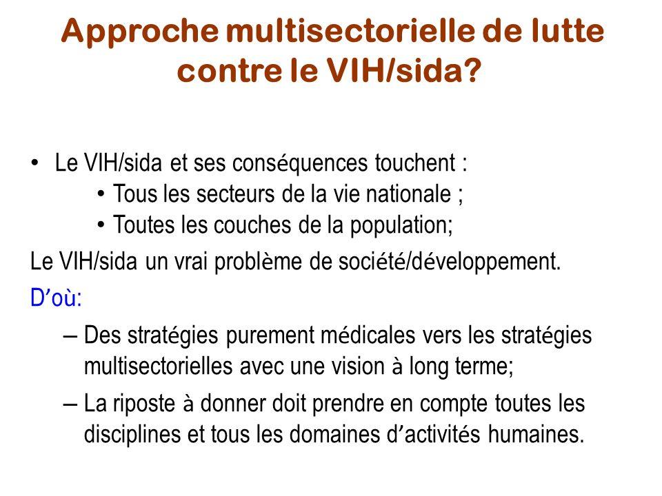 Approche multisectorielle de lutte contre le VIH/sida