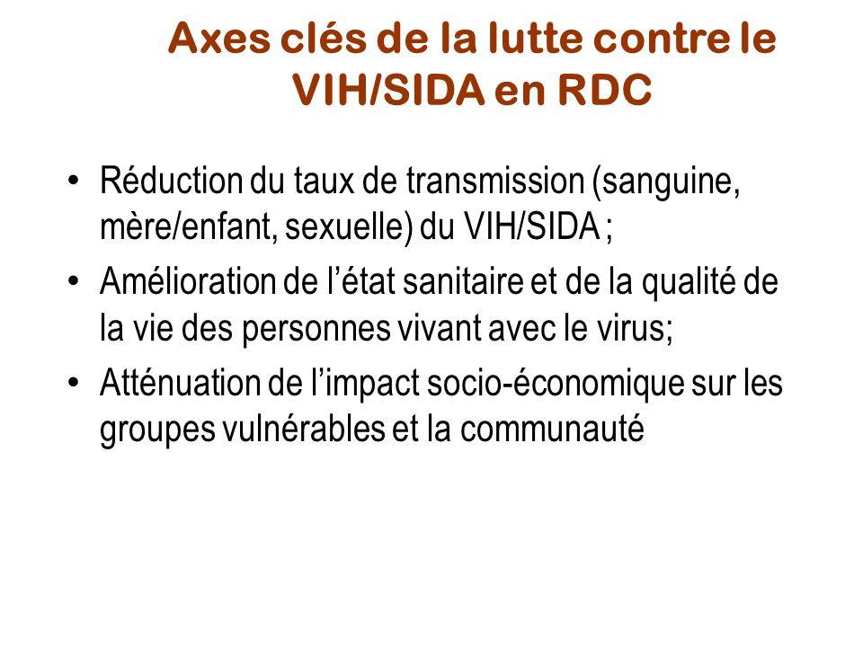 Axes clés de la lutte contre le VIH/SIDA en RDC
