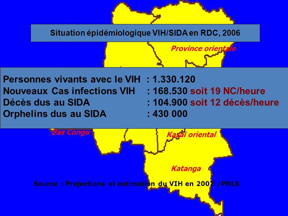Situation épidémiologique VIH/SIDA en RDC, 2006