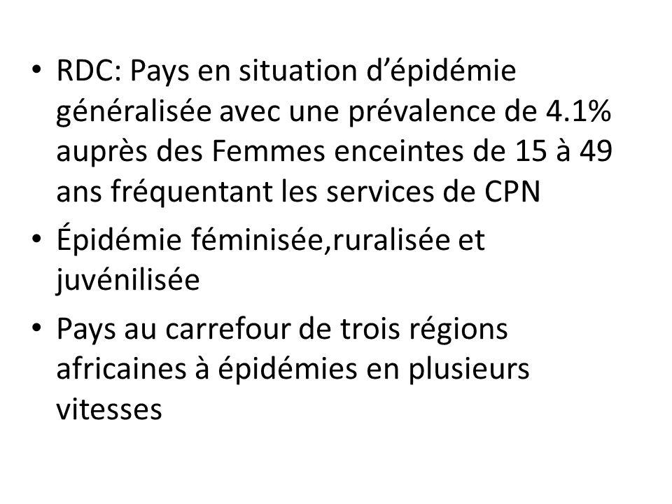 RDC: Pays en situation d'épidémie généralisée avec une prévalence de 4