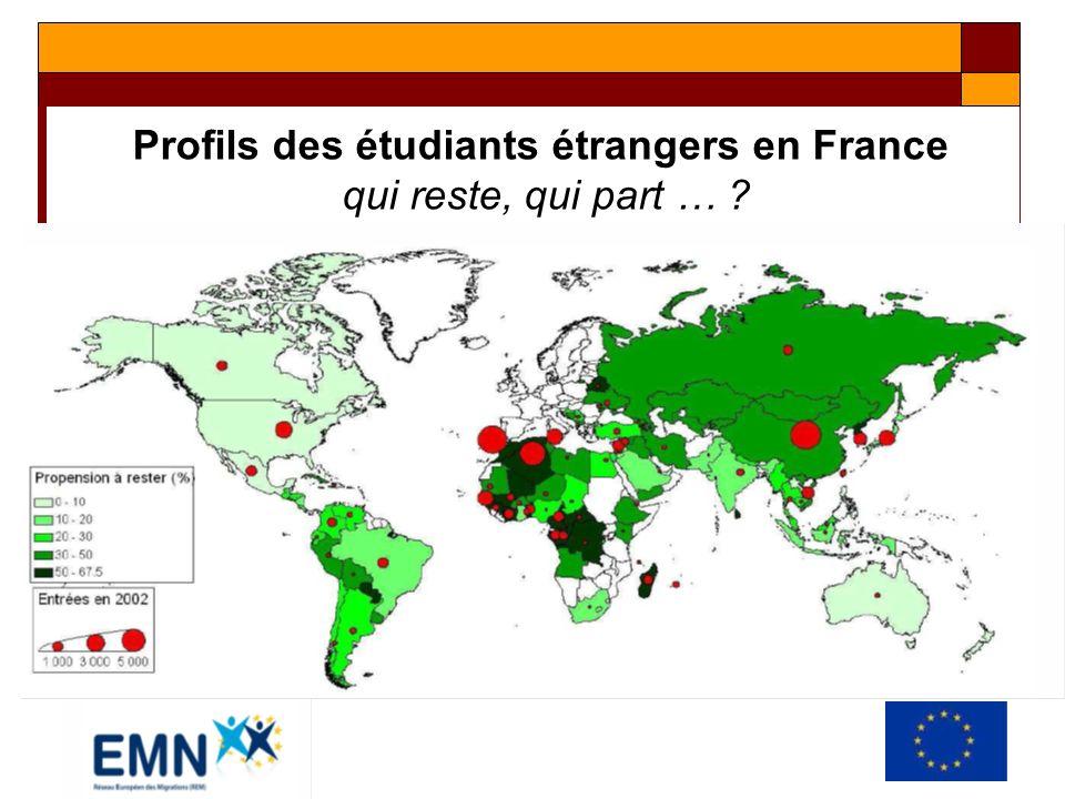 Profils des étudiants étrangers en France qui reste, qui part …
