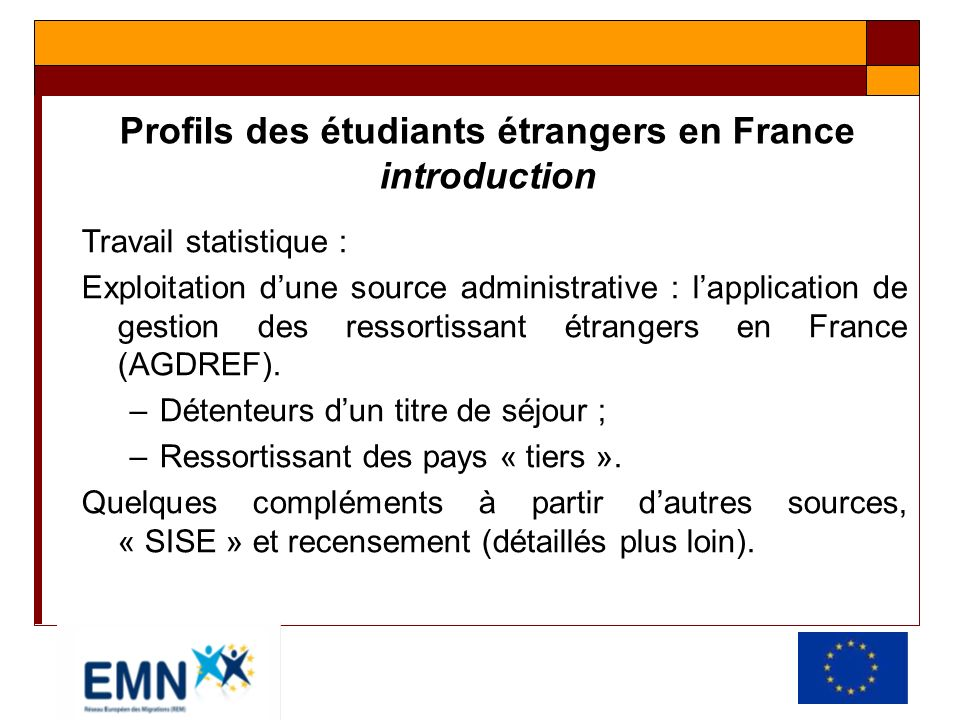 Profils des étudiants étrangers en France introduction