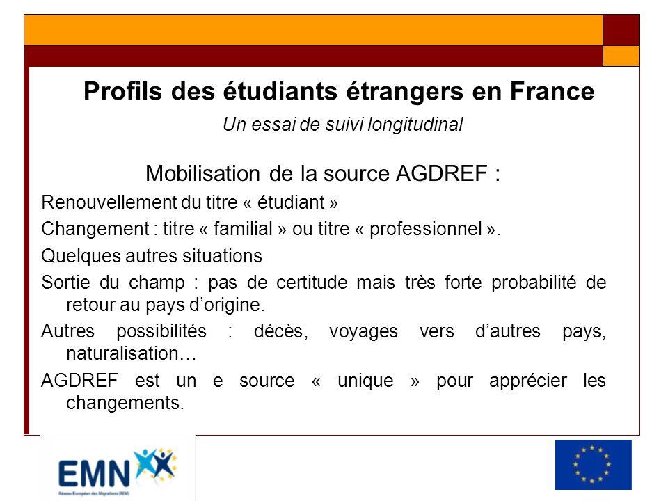 Mobilisation de la source AGDREF :