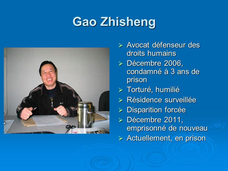 Gao Zhisheng Avocat défenseur des droits humains