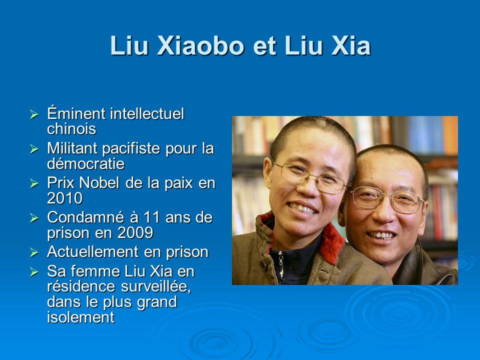 Liu Xiaobo et Liu Xia Éminent intellectuel chinois